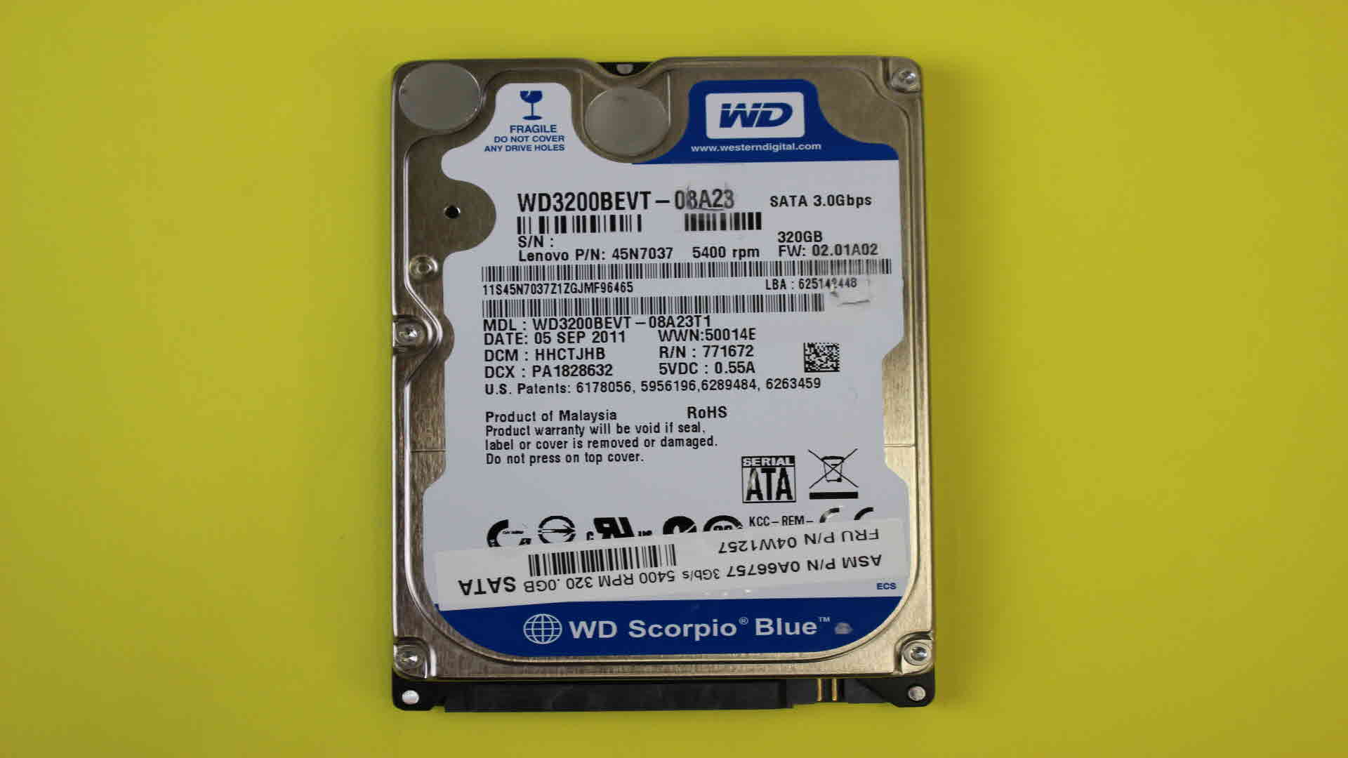 wd3200bevt-08a23t1-recovery
